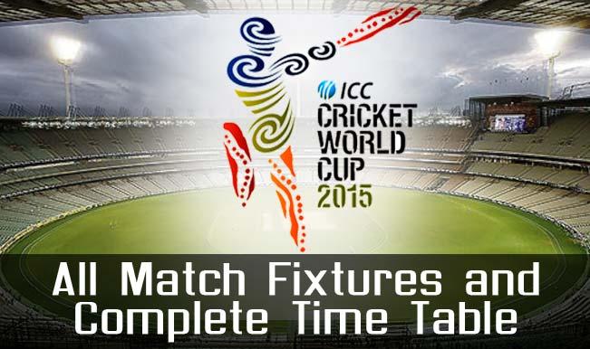icc cricket world cup 2015 schedule