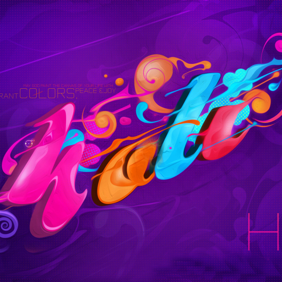 Creative-3D-Holi-Wallpaper