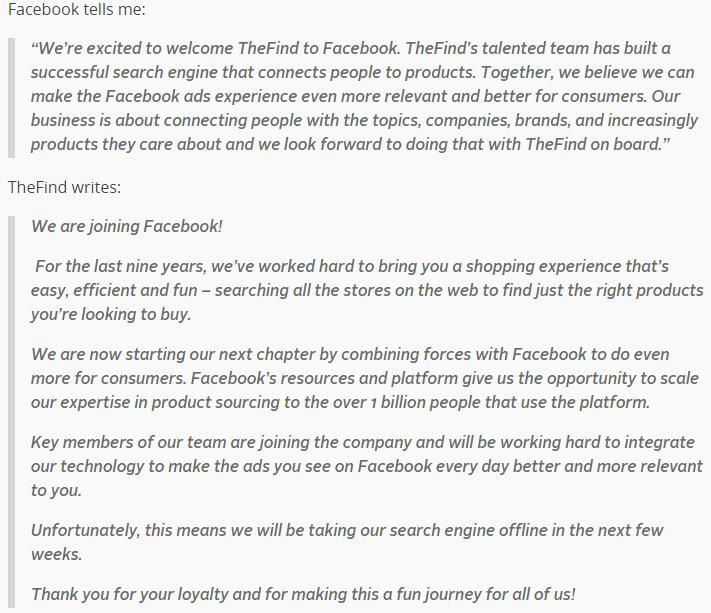 facebook acquisition news