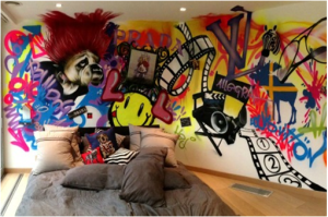 creative painting on the wall