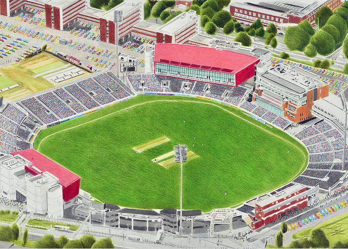 old trafford cricket stadia art lancashire county cricket club brian casey