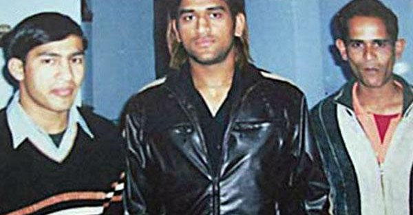 narendra with ms dhoni
