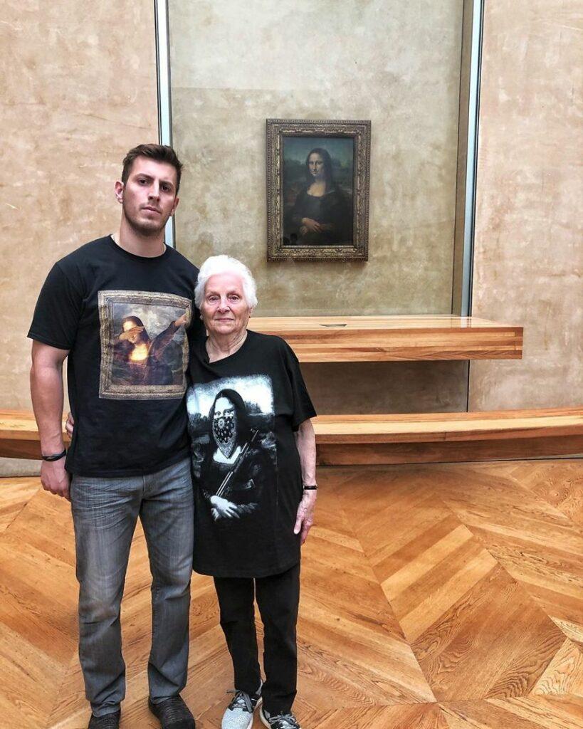 Old Grandma & Her Grandson