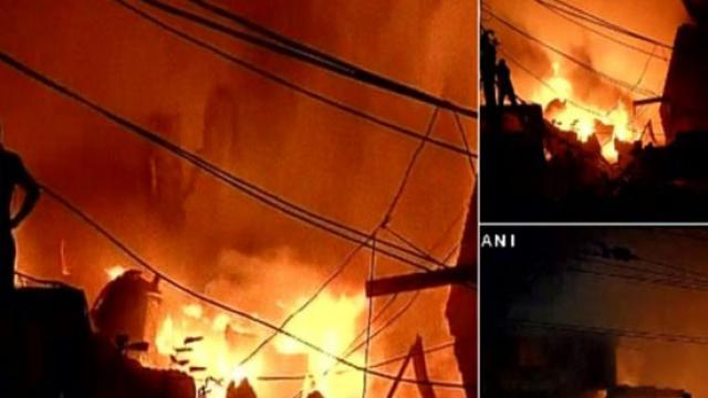 Fierce fire in Delhi