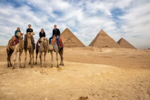 Camel riding at Giza