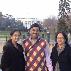 Vijay Shankar Ias with his daughter and wife 300x300 1