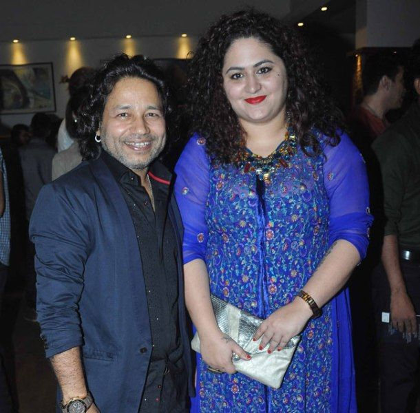 Kailash Kher With His Wife Sheetal