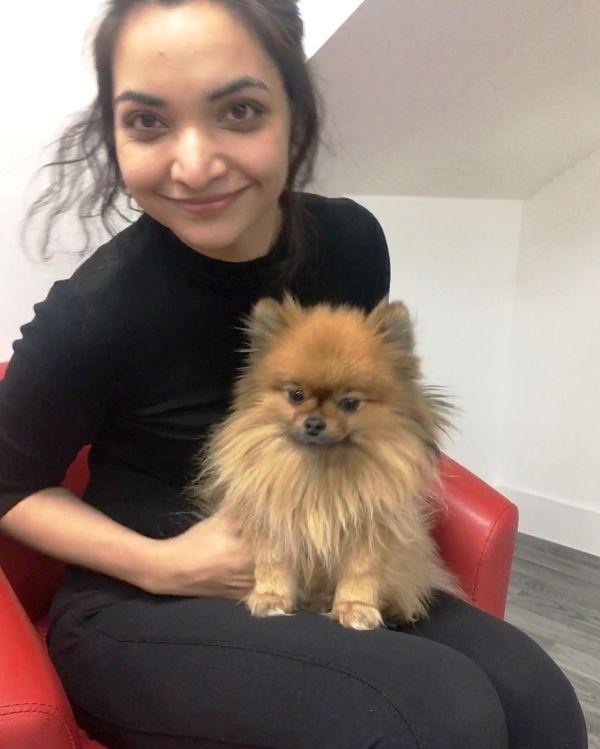 Pushpam-Priya-Choudhary-with-her-pet-dog