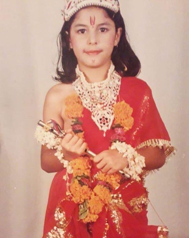Isha Talwar in her school days