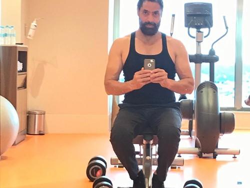 Shaji Choudhary in the gym