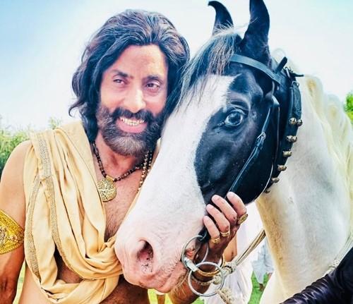 Shaji Choudhary with a horse
