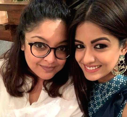 Ishita dutta with sister Tanushree dutta