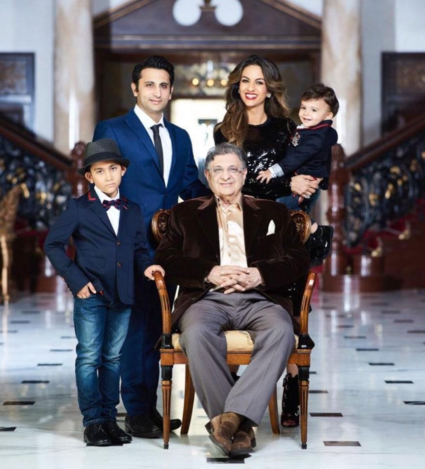 Natasha Poonawalla family pic