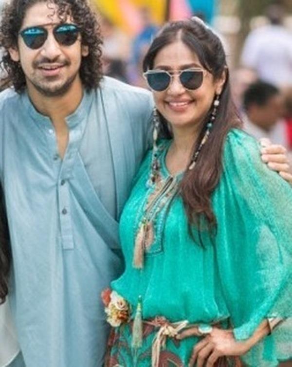 Sunita Gowariker with her brother