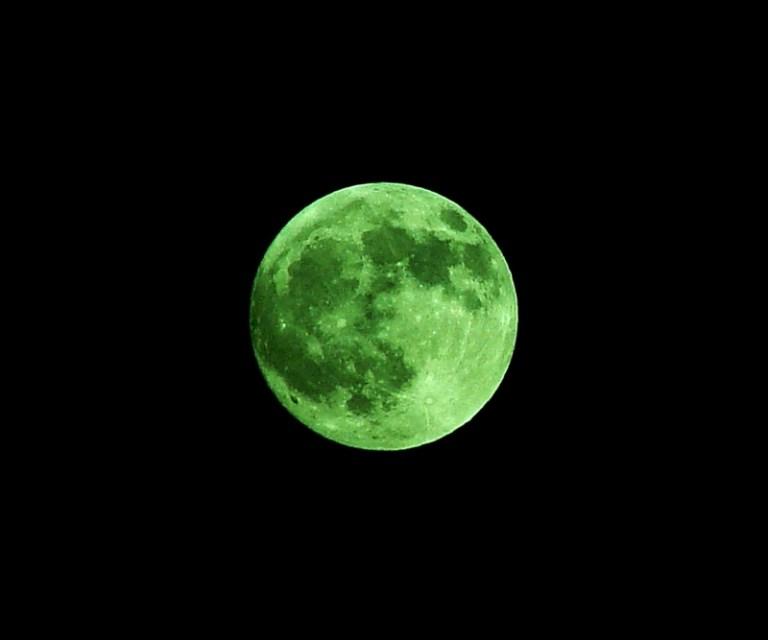 Green Moon Rare Images 2018