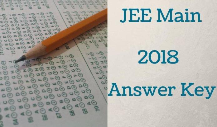 JEE Main 2018 Answer Key